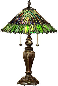 Dale Tiffany Leavesley Tiffany Table Lamp Fieldstone TT100914
