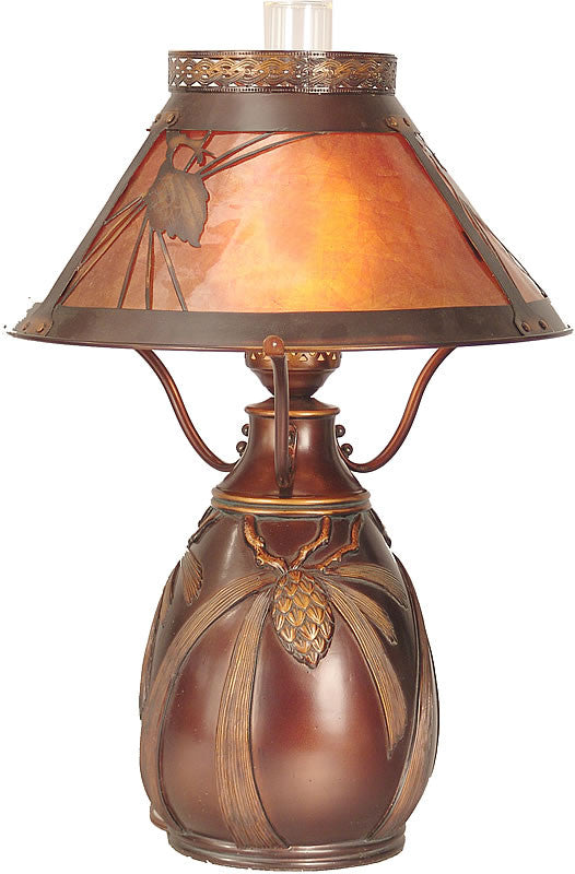"25""h Dana Tiffany Table Lamp Brass"