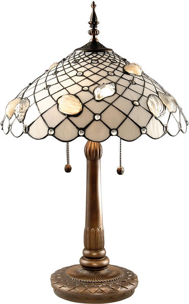 Dale Tiffany Tiffany Shells Table Lamp Antique Brass Plating TT60055