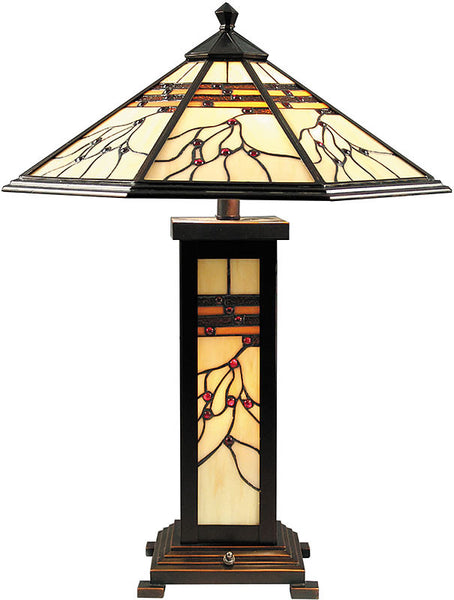 Dale Tiffany Mission Hills Table Lamp Antique Golden Sand TT70331