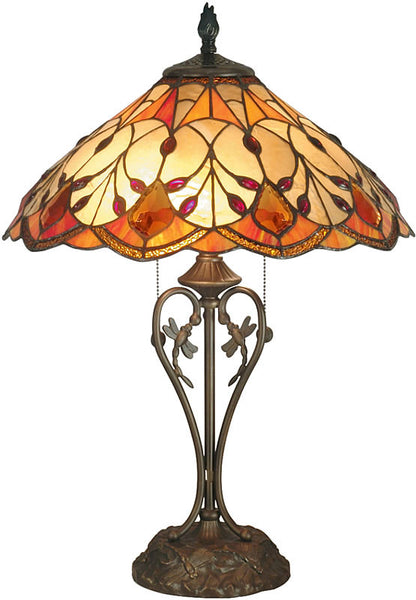 Dale Tiffany Marshall Table Lamp Antique Brass TT70699