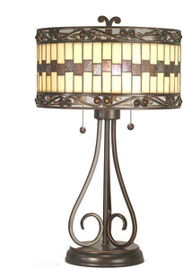 Dale Tiffany Giuseppe Table Lamp Mica Bronze TT80124