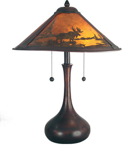 "22""h Wilderness Table Lamp Antique Bronze"