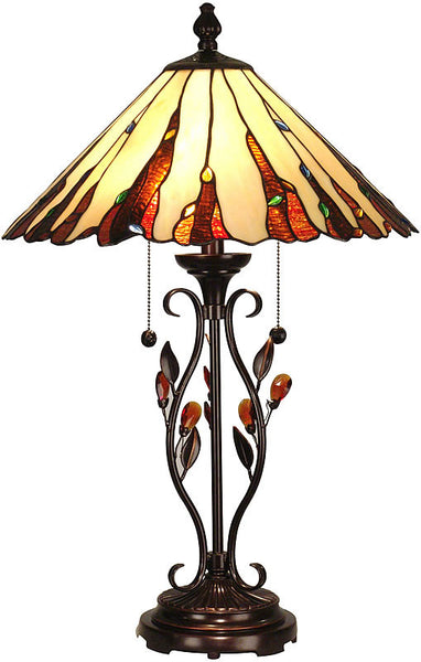 Dale Tiffany Ripley Table Lamp Antique Golden Sand TT90178