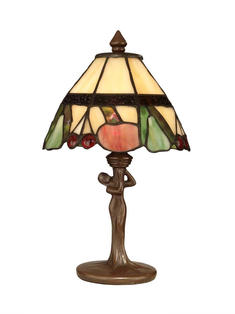 "14""h 1-Light Tiffany Accent Lamp Antique Bronze"