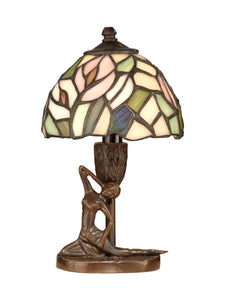 Dale Tiffany 1-Light Tiffany Accent Lamp Antique Bronze TA10607