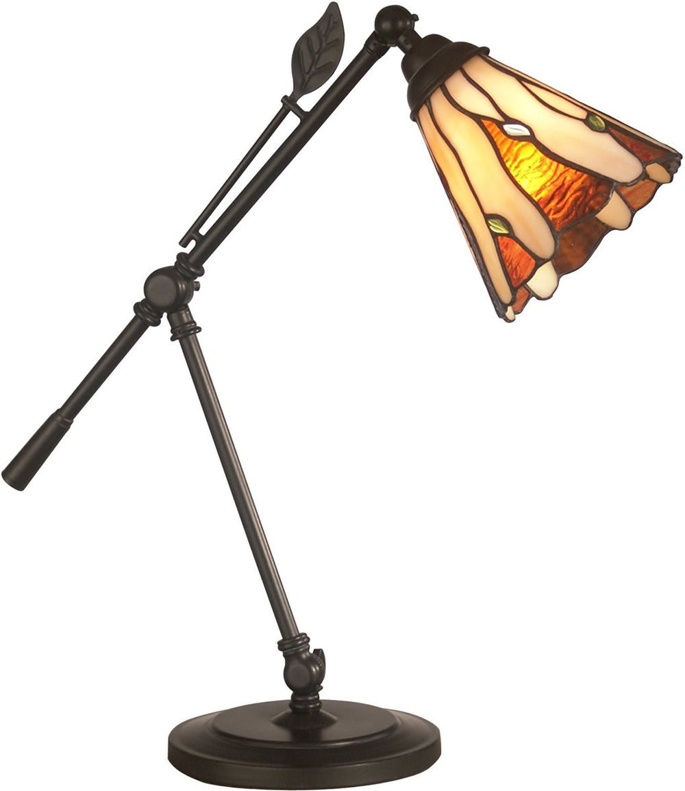 "19""h 1-Light Tiffany Accent Lamp Dark Antique Bronze"