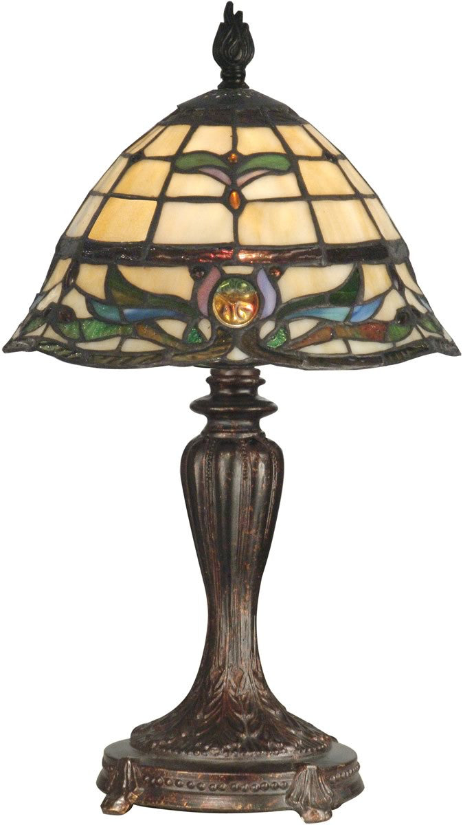 "19""h 1-Light Tiffany Table Lamp Fieldstone"