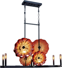 Titan Art Glass Island Light Antique Bronze