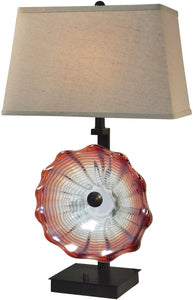 Dale Tiffany Titan Art Glass Table Lamp Antique Bronze AT14341