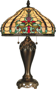 Dale Tiffany Topaz Baroque 2-Light Table Lamp Antique Golden Sand TT60203