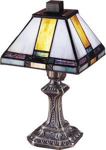 Dale Tiffany Tranquility 1-Light Accent Lamp Antique Brass  8706