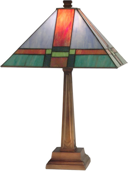 Dale Tiffany 1-Light Tiffany Table Lamp Antique Brass TT11047