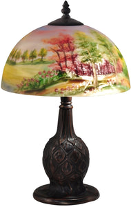 Trees Glass Accent Lamp Antique Bronze