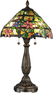 Dale Tiffany Trellis 2-Light Table Lamp Fieldstone TT12364