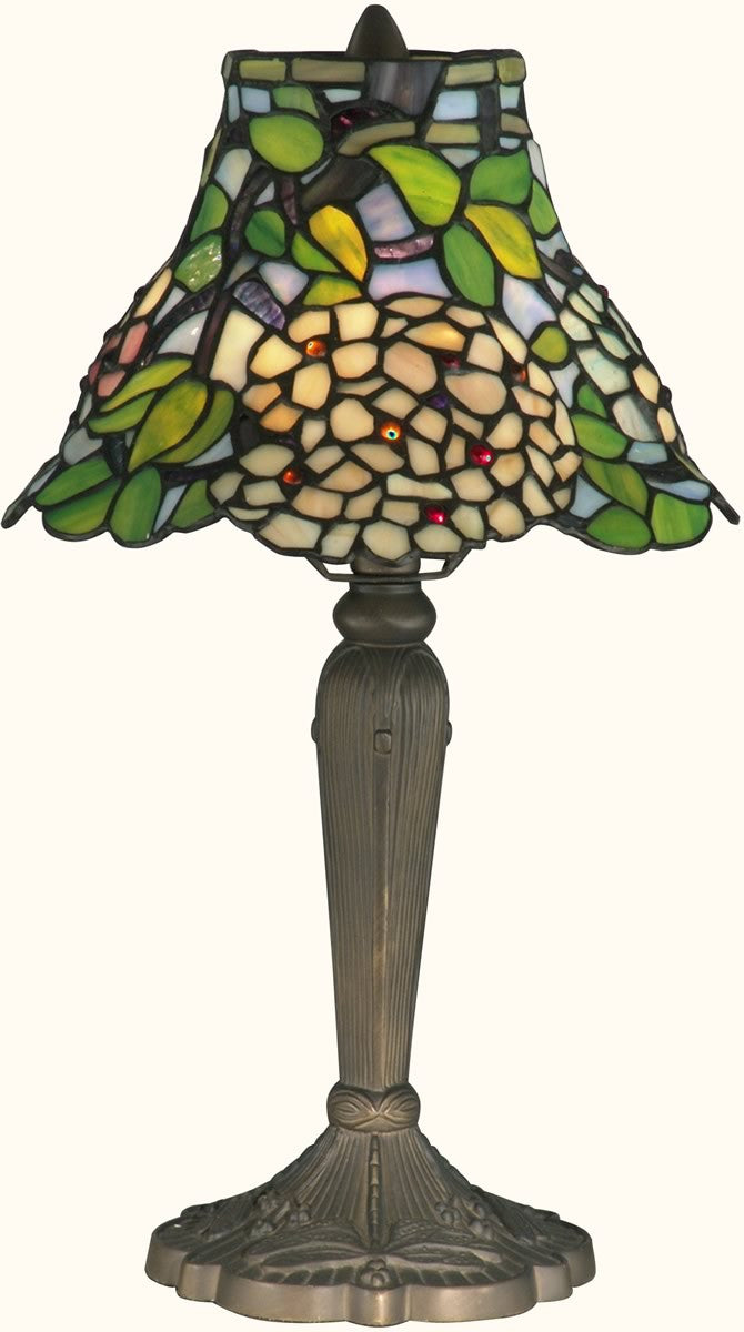 "18""h 1-Light Tiffany Table Lamp Antique Brass"