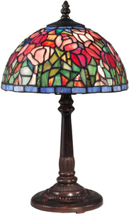 Tulip Tiffany Accent Lamp Antique Bronze