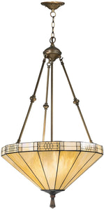 Dale Tiffany 3-Light Tiffany Hanging Fixture Antique Brass 86423LTJ