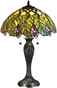 Dale Tiffany Valencia Tiffany Table Lamp Antique Bronze TT14294
