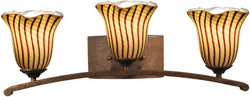 Dale Tiffany Valley Art Glass Bath Light Antique Bronze AW14177