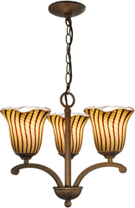 Valley Glen Art Glass Chandelier Antique Bronze