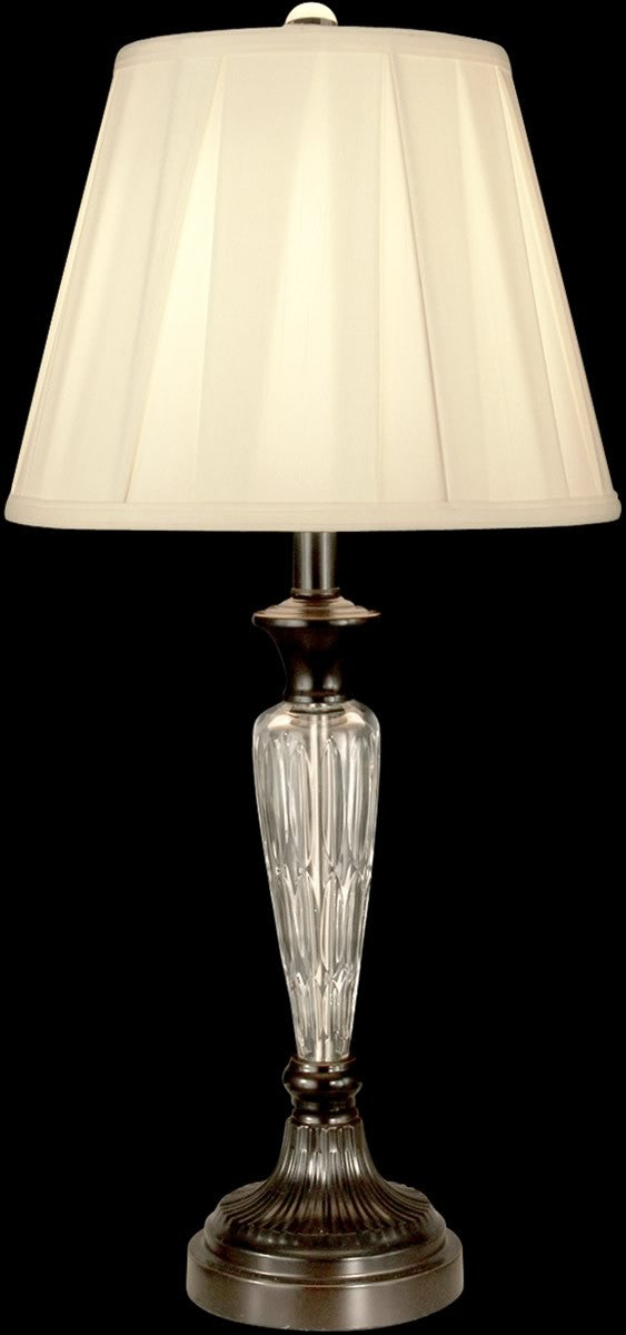 "28""H 1-Light Crystal Table Lamp Oil Rubbed Bronze"