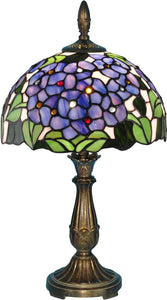 Verbena Tiffany Accent Lamp Antique Bronze