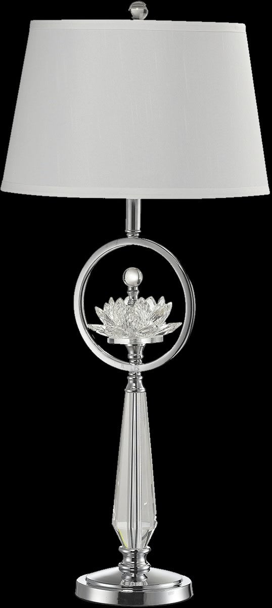 "33""H Viviana Crystal Table Lamp Polished Chrome"