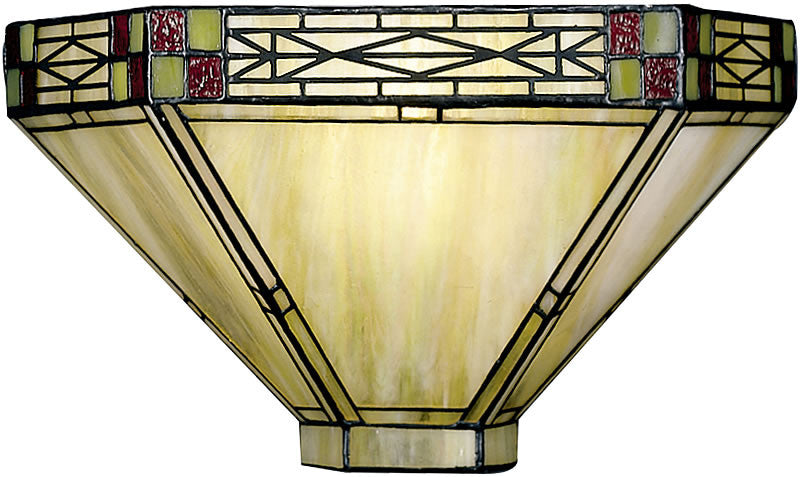 "14""w Mission Tiffany Wall Sconce"