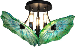 Dale Tiffany Waterfront Art Glass Semi Flush Antique Bronze AH14302