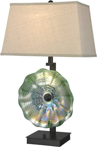 Dale Tiffany Waterfront Art Glass Table Lamp Antique Bronze AT14311