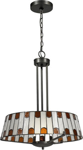 "19""w Wedgewood 1-Light Pendant Dark Bronze"
