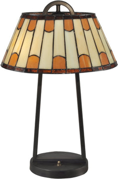 "21""H Wedgewood Tiffany Table Lamp Antique Bronze"