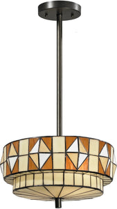 "16""w Wescott 2-Light Pendant Dark Bronze"