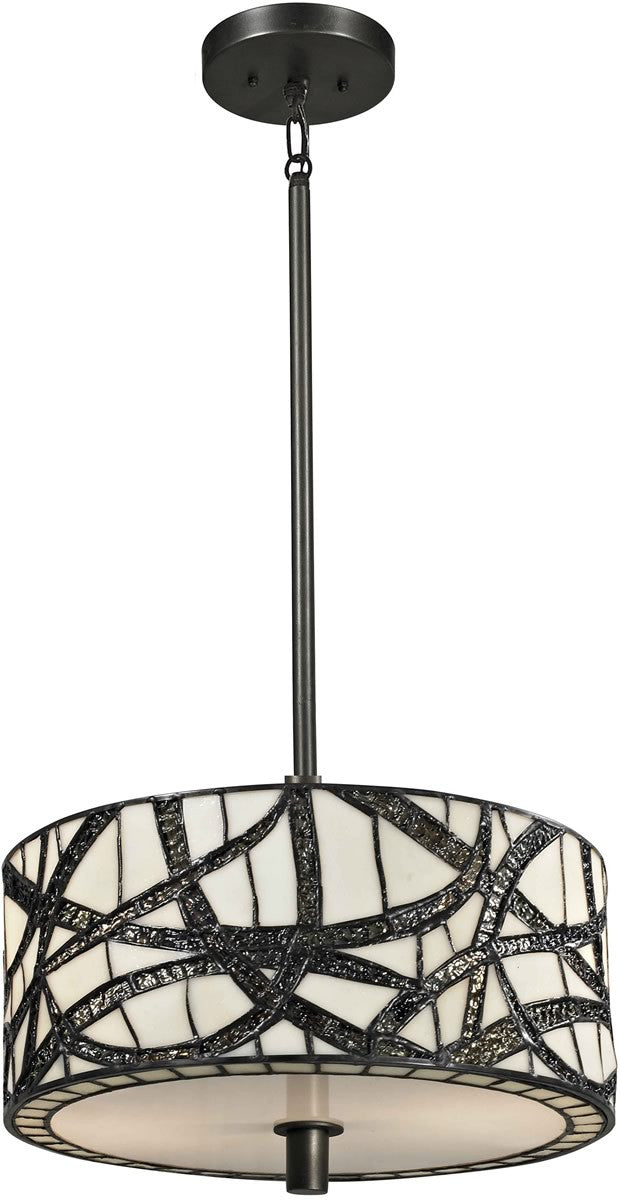 "14""w Willow Cottage 2-Light Pendant Dark Bronze"