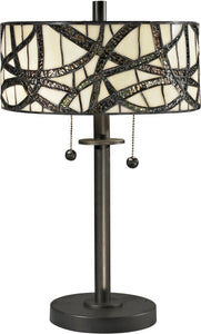 Dale Tiffany Willow Cottage 2-Light Table Lamp Dark Bronze TT12412