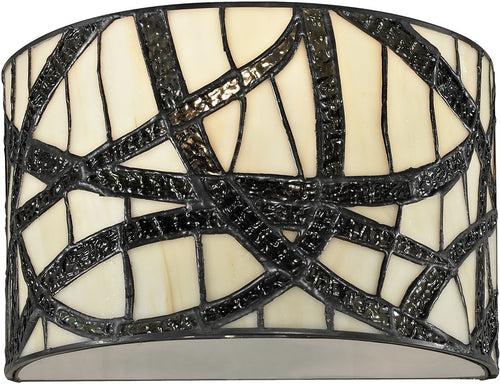 Dale Tiffany Willow Cottage 1-Light Wall Sconce Black TW12423