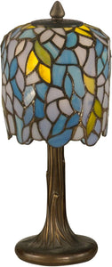 "13""h 1-Light Tiffany Accent Lamp Dark Antique Bronze"