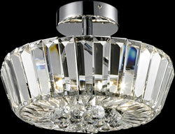 Dale Tiffany Woodstone Crystal Semi Flush Antique Bronze GH14149