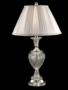 Yorktown 1-Light Crystal Table Lamp Polished Nickel