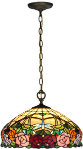 Zenia Rose Tiffany Pendant Antique Bronze