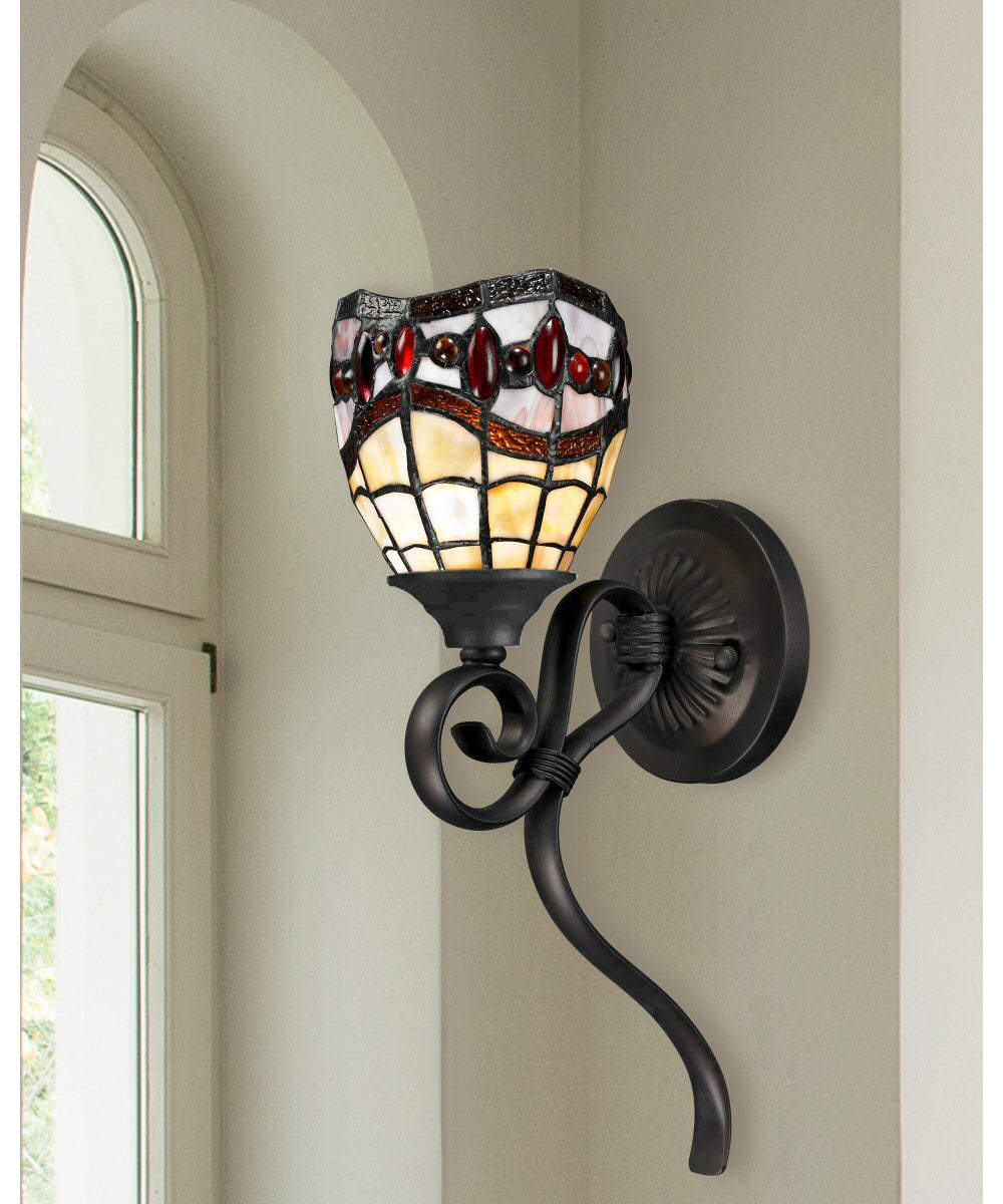"8""w Fall River 1-Light Wall Sconce Dark Bronze"