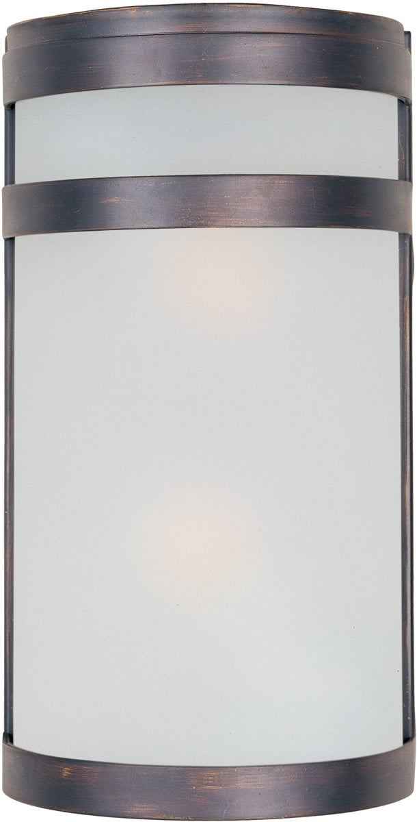 "12""H Arc 2-Light LED Outdoor Wall Lantern Oil Rubbed Bronze"