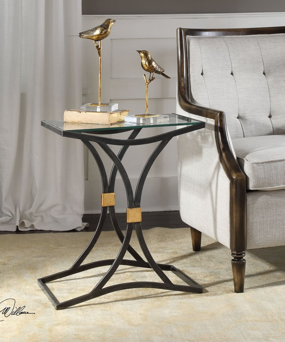 "24""H Verino Arched Iron Accent Table"