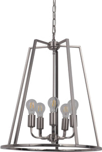 Arc 5-Light Foyer Light Polished Nickel