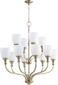 "34""W Richmond 12-light Chandelier Aged Brass"
