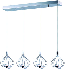Tilt LED 4-Light Pendant Polished Chrome
