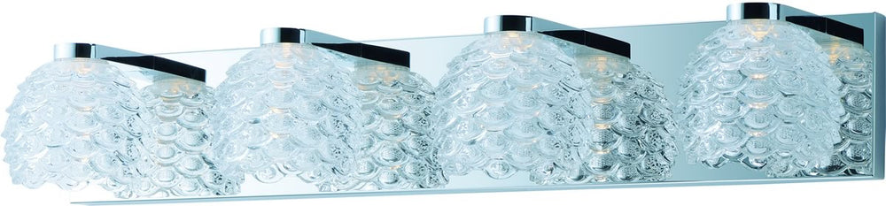 "28""w Fringe LED 4-Light Bath Vanity Polished Chrome"