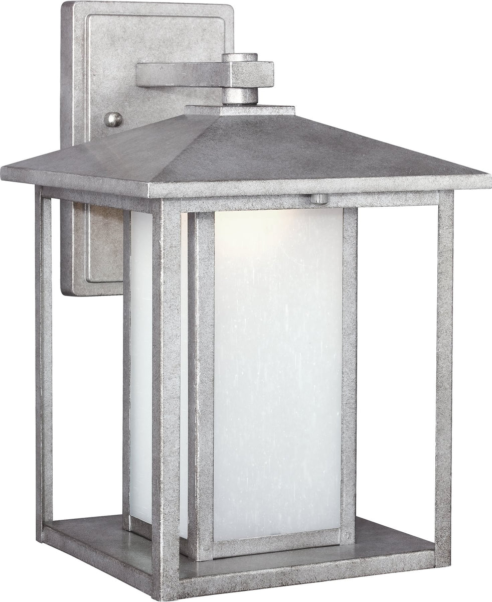 "14""H Hunnington 1-Light LED Outdoor Wall Lantern Weathered Pewter"