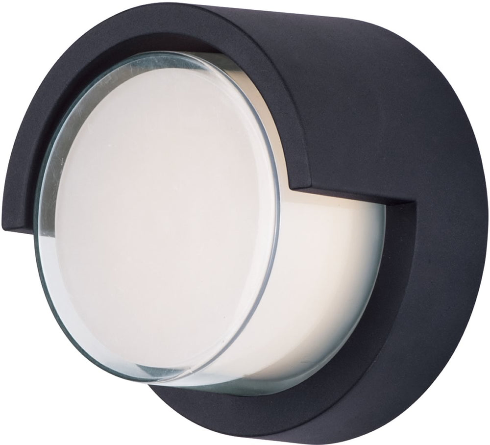 "7""H Eyebrow LED 1 Light Wall Mount Black"